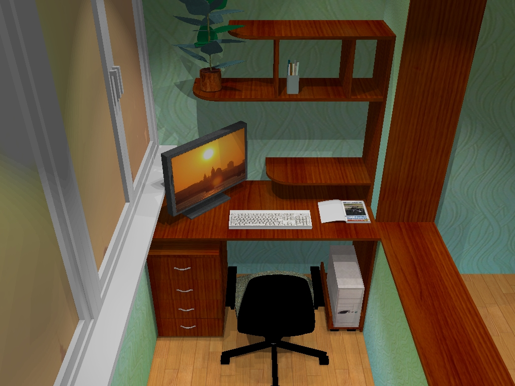 Балкон, переделанный в кабинет - общий альбом - форум мебель.