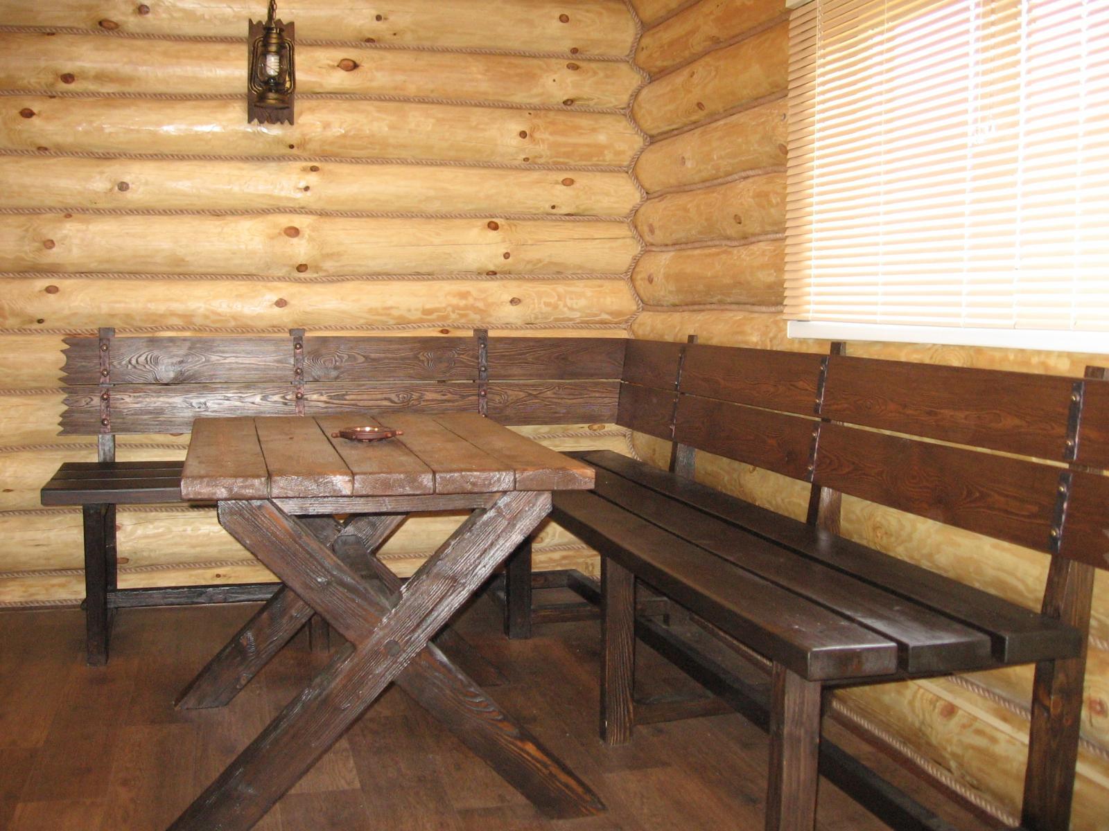 Бани под старину-мебель и отделка. - состаренная мебель из м.