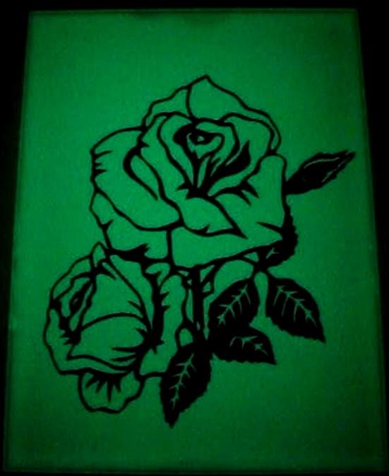 Светящееся зеркало. Роза.