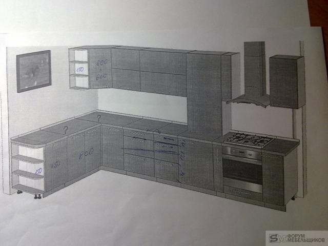 проект кухни с газовым котлом фото