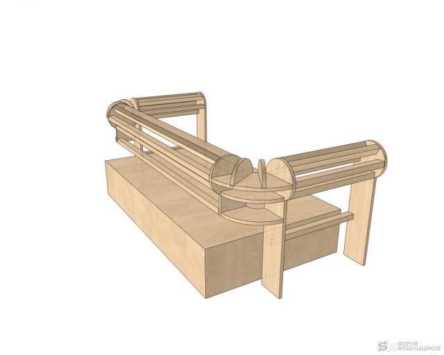 Как сделать каркас дивана честер