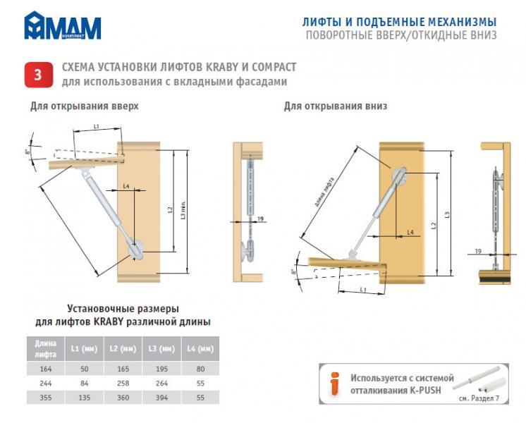 Схема по вязанию лифт