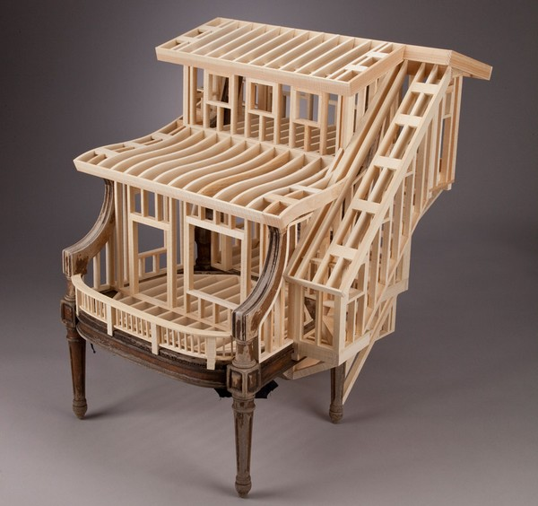 кресло из дерева фото