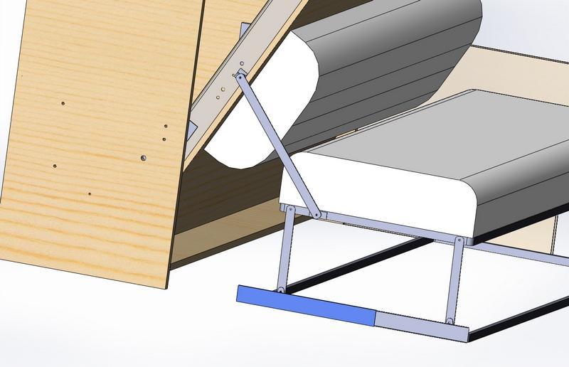 Как сделать диван кровать шкаф трансформер чертежи.