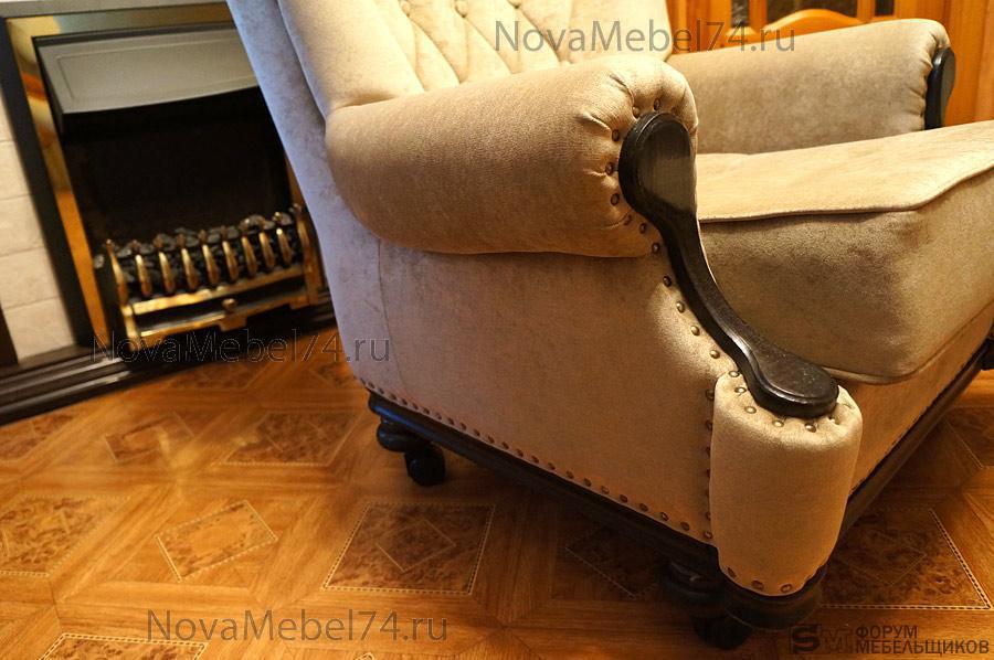 Ремонт кожаных подлокотников кресла своими руками 38