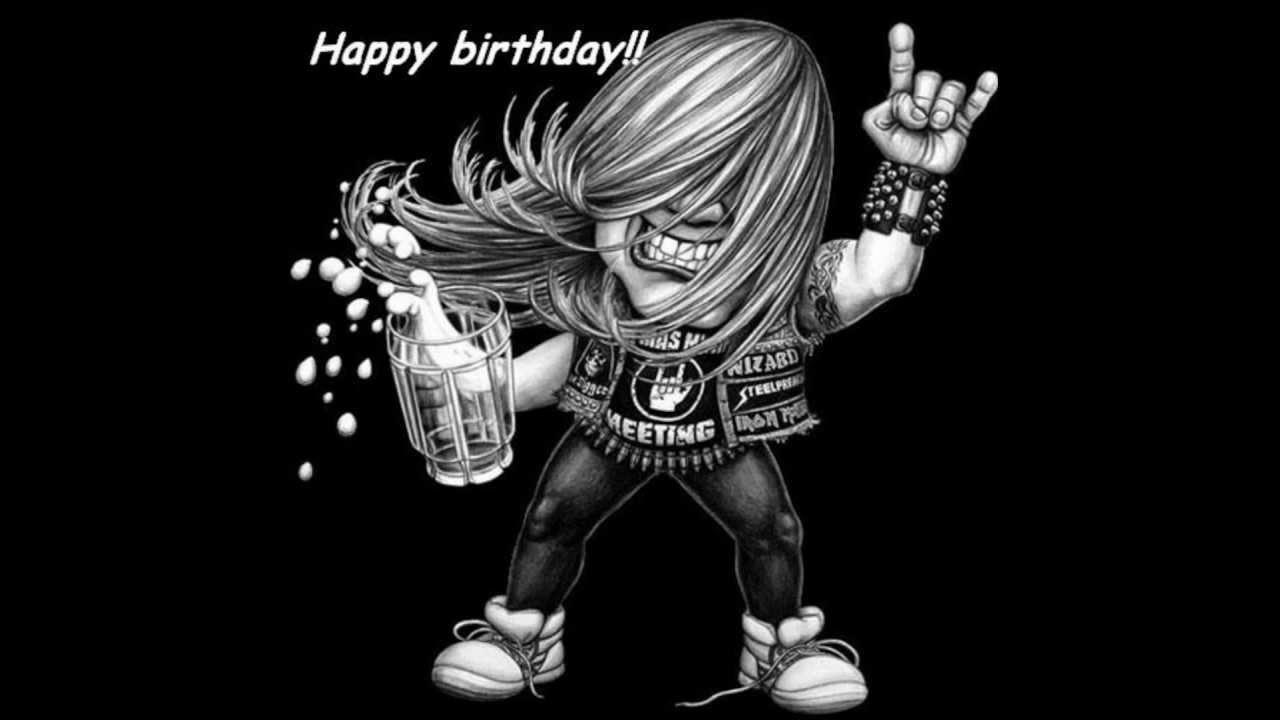 Поздравление с днем рождения мужчине рокеру