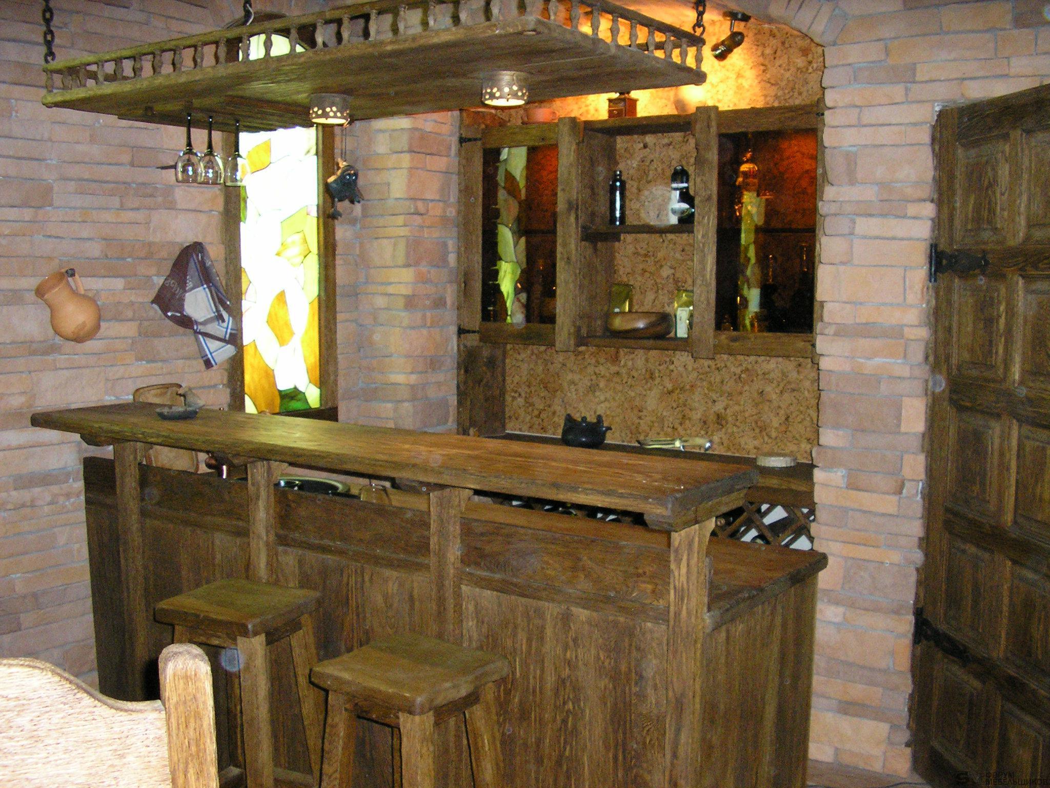 Барная стойка из дерева в кафе своими руками фото