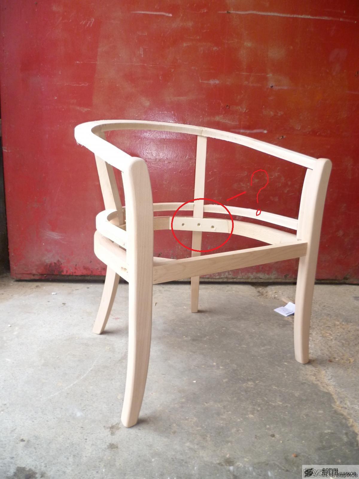 Как сделать деревянный каркас кресла