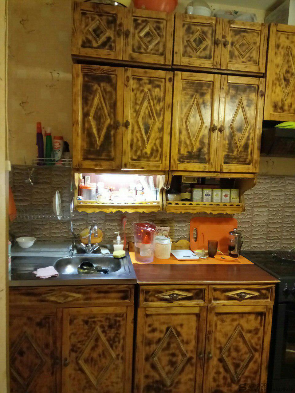 Реставрация кухонного гарнитура: как обновить старую кухню своими руками 63