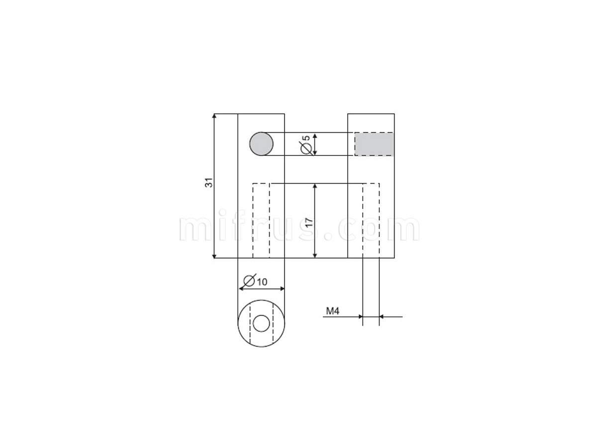 Держатель C1941.PC.25 цилиндрический торцевой хром глянец чертеж.jpg